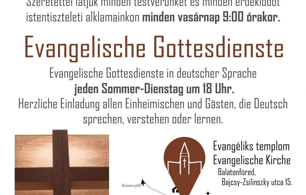 Evangélikus Istentisztelet német nyelven