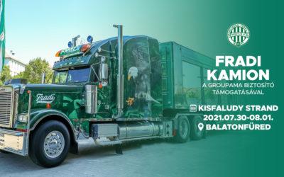 Fradi kamion Balatonfüreden